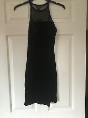 BN Girls Black Velour Body Con Style Dress From 915Generation@New Look Age 13 Yr