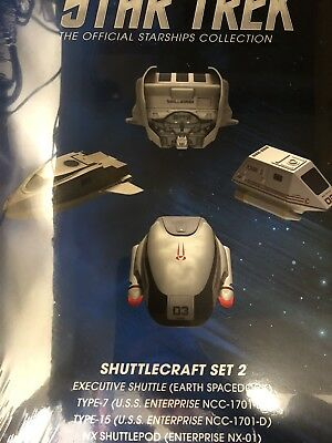 Star Trek Shuttlecraft Set Vo. 2 & Mini Mags Eaglemoss Star Trek Collectible New