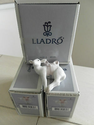 Lladro Lamb Ornaments # 5969 3 Ornaments New In Boxes Mint Condition Fast Ship!!