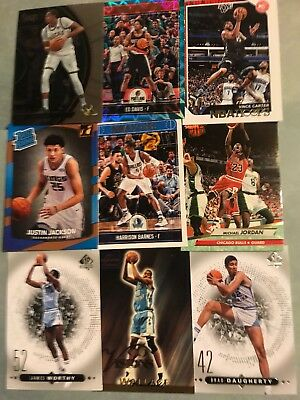 (90) North Carolina Tar Heels Basketball Cards! Michael Jordan- Worthy- Carter