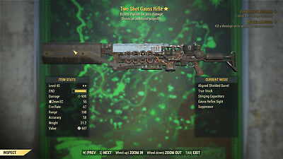 Fallout 76 - Two Shot Explosive Gauss Rifle [PC Only]