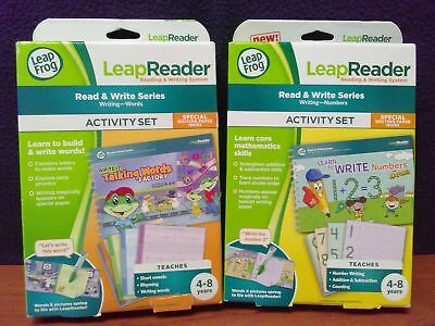 NEW Lot of 2 LEAP FROG LEAP READER Read & Write Series WORDS & NUMBERS Sealed