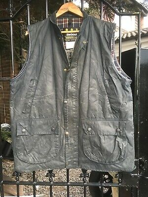 Barbour WESTMOORLAND wax country shooting Gilet Body warmer jacket XL