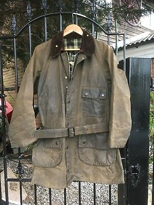 Vintage Barbour SOLWAY ZIPPER wax Biker Shooting Country jacket size 40+
