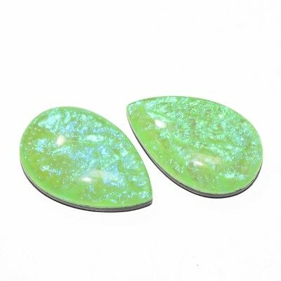 A++ Matched Pair Australian Triplet Opal Radiant Treated Gemstone Cabochon