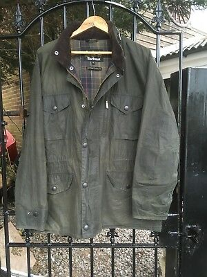 Barbour FLYWEIGHT WAX SAPPER Country shooting Casual jacket size XL