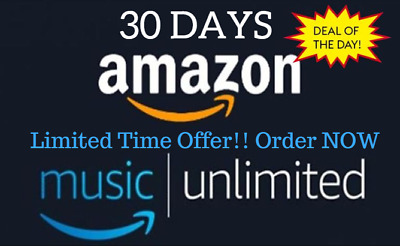 Amazon Unlimited Music 1 Month Subscription Account Fast Delivery 100% Personal