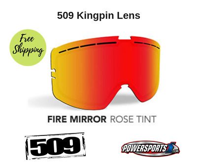 509 Kingpin Goggle Lenses Dual Fire Mirror Rose Tint 509-Kinlen-17-Fr + Sticker