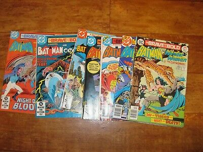 Job Lot 8 x DC The Brave and the Bold Batman Comics 1976-83. Marries Catwoman
