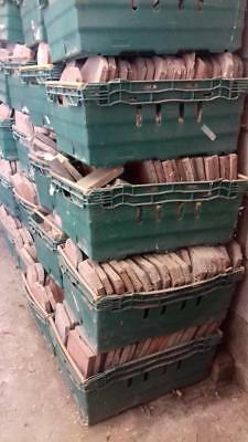 Quarry Tiles 20 large plastic tubs. Victorian. Reclaimed Salvage. Approx 1000