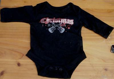 Baby Glam Long Sleeved One Piece - BRAND NEW W/T VARIOUS SIZES  CHRISTMAS ROCKS