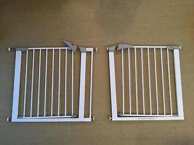2 x Lindam Sure Shut Axis Gate 75 - 82cm Stair Safety (one new, one used)