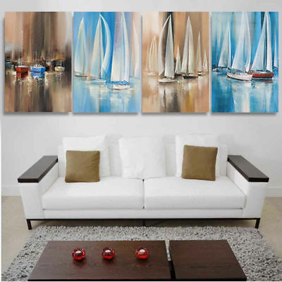 Art of Seascape Sailing Boat Oil Painting Canvas Print Home Decor Pictures Gift