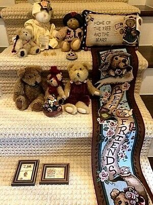 Lot of 11 Boyds ~ Bears & Accessories + 2 Framed Bear Prints