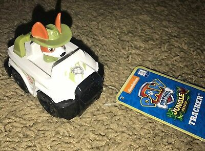 New - Paw Patrol Tracker - Jungle Rescue - Racer Racers Vehicle Car - NWT