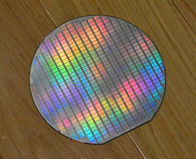 6 inch silicon wafer - early 1990s Dallas Semiconductor Memory Chips
