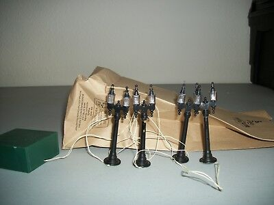 Dept Department 56 Heritage Village Lamp Post Set Of 4 Battery Operated #5996-0