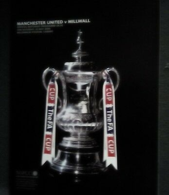 Manchester United v Millwall 2004 Fa Cup final. Excellent condition.