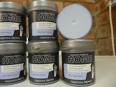 12 Graham & Brown Paint New Sealed 75Ml Pots Craft /upcycle.pale Blue.99P Start