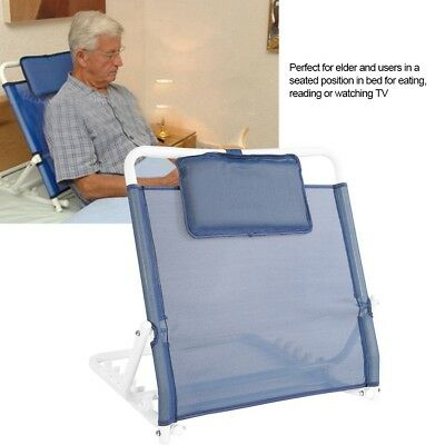 Heavy Duty Deluxe Disability Aids Adjustable Fabric Bed Back Rest Support Device