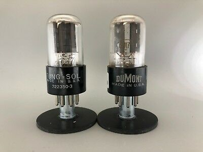 "Tung-Sol 6SN7GT ""BAD BOY"" Tubes *3% PLATINUM MATCHED PAIR* STRONG on AT1000"