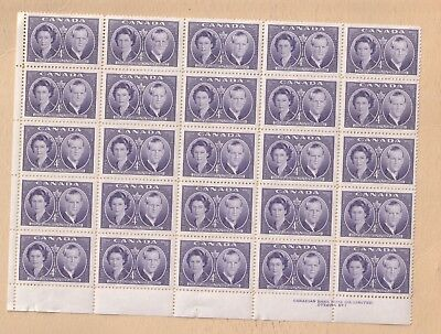 Canada Stamp  20x4cent LL MH LOT 103
