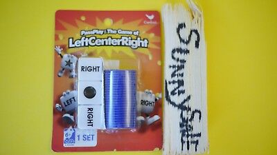 LCR Left Center Right Dice Game Night Chips Travel gambling bIgger the group FUN
