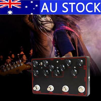 Guitar Integrated Effects Delay + Chorus + Loop + Overdrive 4-In-1 Effect Pedal