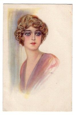 a/s Art Deco beautiful lady 1920s A0421