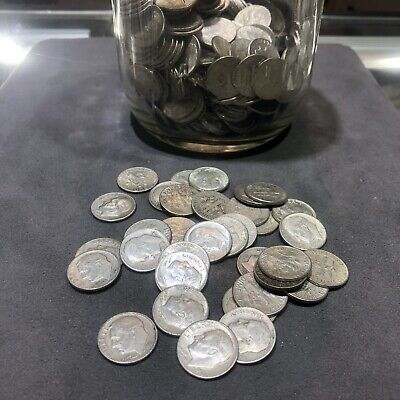$1 Face Value - 90% Silver U.S. Coin Lot - 10 Roosevelt Dimes pre-1965