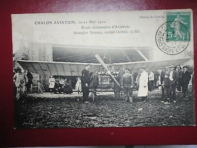 Aviation. Chalon Aviation. 21-22/05/1911. Monoplan Montery.ecole Chalonnaise