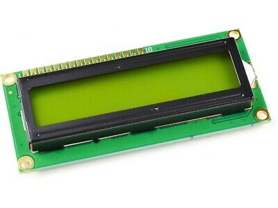 LCD 1602 Green, Yellow Backlight, parallel or I2C serial interface optional