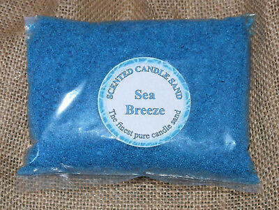 Candle Making Sand Sea Breeze Scented Blue. 600g Sand. Craft Clearance Bargain