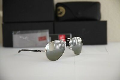 372a090e8a1 Ray-Ban RB8317CH Carbon Sunglasses Silver Mirror Polarized Chromance 003 5J  58mm