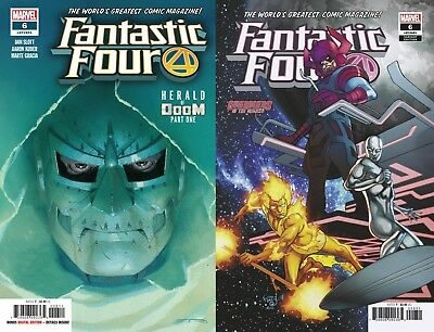 FANTASTIC FOUR 6 2019 Main A Cover + Ferry Guardians of Galaxy Variant Marvel NM