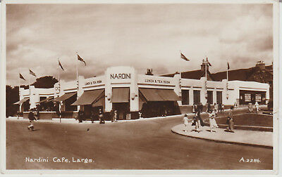 Largs - Nardini Cafe - Scotland  - Real Photo -  Postcard # P/u 1942? # 18577