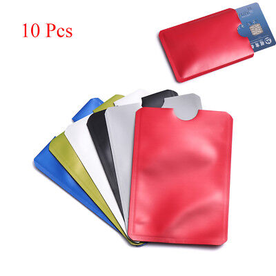 Credit Cards Safety Sleeve Wallet Protect Case Cover RFID Blocking Card Holder