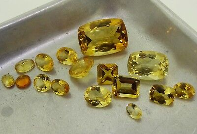mixed citrine 34.88ct Natural Loose Gemstones