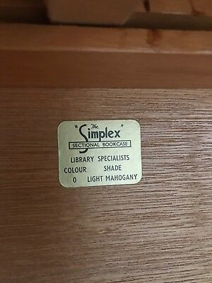 Simplex Tall Light Mahogany 6 section stacking bookcase. Owned since new.