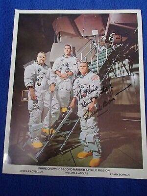 Astronaut Frank Borman Autographed Photo