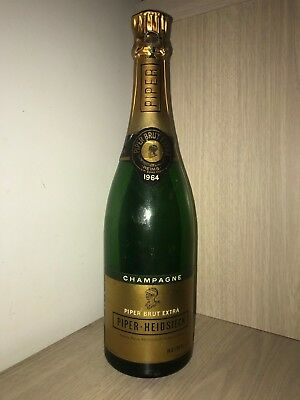 Ancienne Bouteille 1964 Champagne Brut Extra  Publicitaire Piper Heidsieck Vide