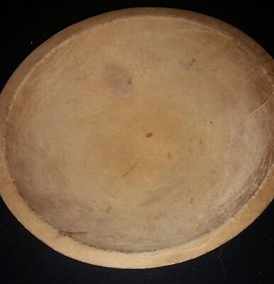 "Wood dough bowl 11"" Vintage nice patina"