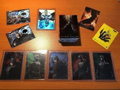 Batman Begins Topps Trading Card Full Set + Embossed Foil Hologram Memorabilia