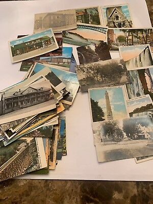 Lot of 100 Vintage Postcards Antique Early 1900's Niagara Falls Saratoga