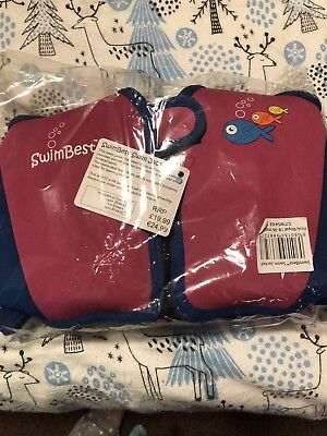 SwimBest Swim Jacket / Swim Vest *NEW* 18-36mths / 2-3 yrs /Pink/ Fish Logo)