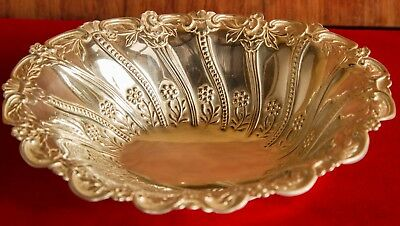 Antique Gorham Sterling Silver Bowl Flower Accents 1800s  - Free shipping!