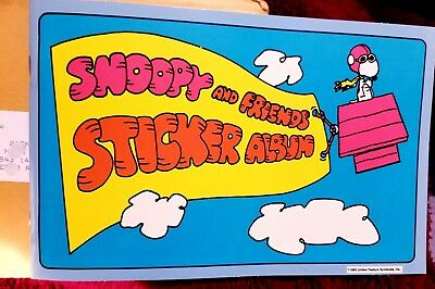 VTG Snoopy & Friends 36 Original Stickers~~ Album 1965 United Features Syndicate