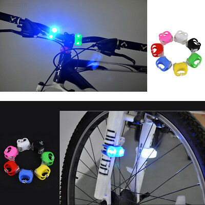 7F26 Outdoor 3 Switching Modes Silicone Bike Bicycle Head LED Flashing Light