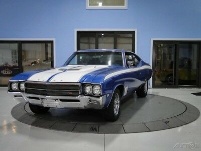 """1969 Buick GS400 Tribute Bright Blue Metallic and White Striped Skylark """"muscle car"""""""