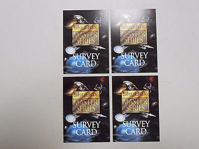 1994 Skybox Master Series II Star Trek survey card lot of 4! NM/MN! LOOK!